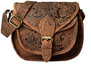 87a8bc3e5d FREE Delivery by Amazon. LEADERACHI Women's Printed Muskat Leather  Crossover Bag