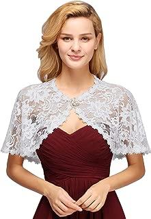 MisShow Women's Bridal Wedding Floral Lace Wraps and Shawls Bolero Shrug Shawls