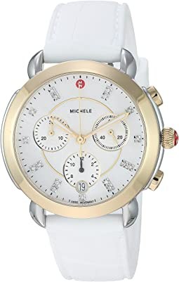 Sidney Two-Tone and White Silicone Diamond Dial Watch