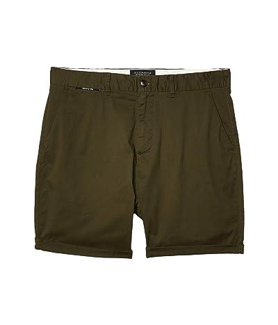 Scotch & Soda Mid Length Classic Chino Shorts in Pima Cotton Quality (Military) Men