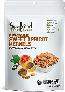 Sunfood Superfoods Sweet Apricot Kernels Raw Organic 8 oz