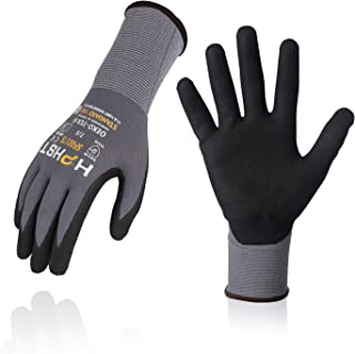 Nitrile Work Gloves HPHST SF001TS,Micro Foam Technology & Spandex Liner Nitrile Coated,CE Approved 15 Gauge Ergonomic Desi...