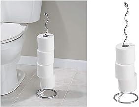 InterDesign Orbinni Spiral Free Standing Toilet Paper Holder for Bathroom - Chrome