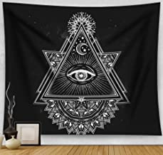 """Sumplee Modern Stylish Tapestry Wall Hanging Decor Blanket Bedspread for Home Room Dorm (60""""H x 80""""W, Eye of God)"""