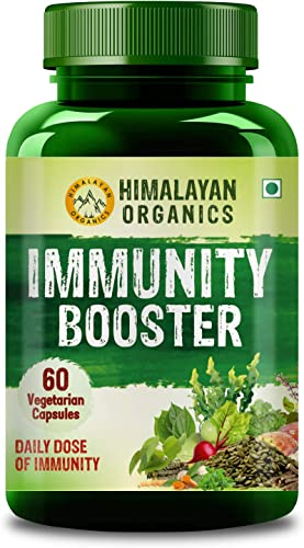 Himalayan Organics Plant based Immunity Booster with 25 Ingredients for Immunity Digestion Energy 60 Veg Capsules