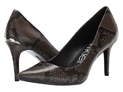 Calvin Klein Gayle Pump (Camouflage Two-Tone Snake) High Heels