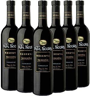 Pata Negra Reserva Vino Tinto D.O Valdepeñas - Pack de 6 Botellas x 750 ml