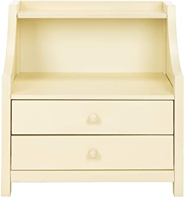 Safavieh Home Collection Ellie 2 Drawer Nightstand, White