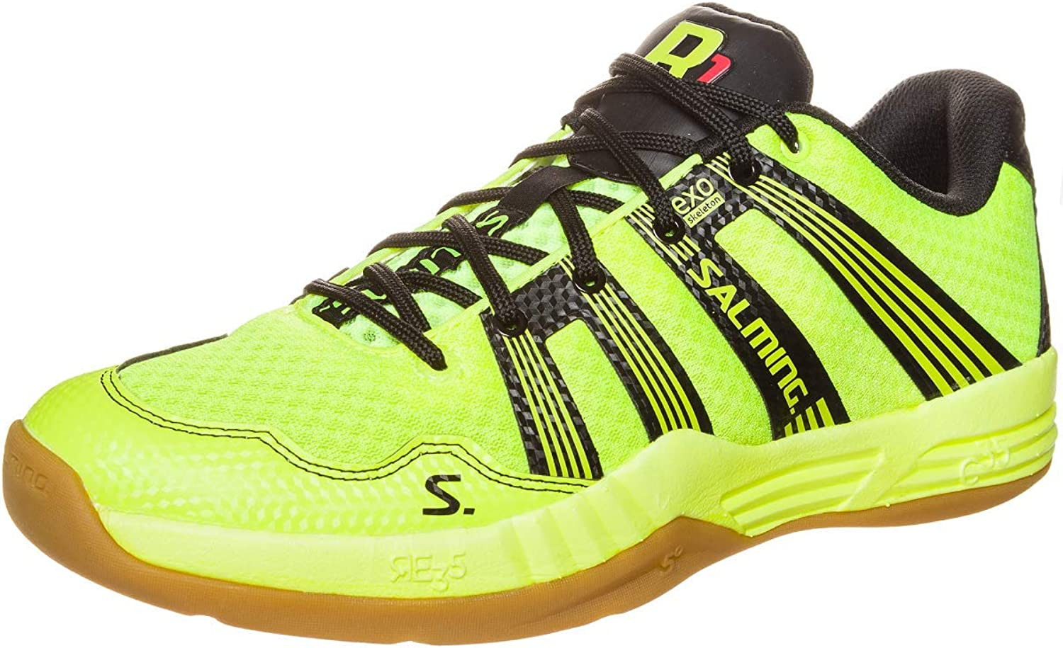 Salming Race R1 2.0 Mens Court shoes, color- Yellow, Size- 12 UK