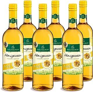 KATLENBURGER Met Honigwein aus 100% reinem Bienenhonig, 0,75 l Flasche. Lieblich, intensiver aromatischer Honig-Geschmack mit 10% vol, 6x 0,75L