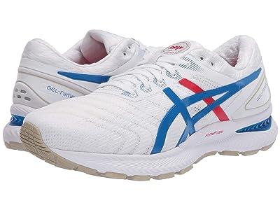ASICS GEL-Nimbus(r) 22 (White/Electric Blue) Men
