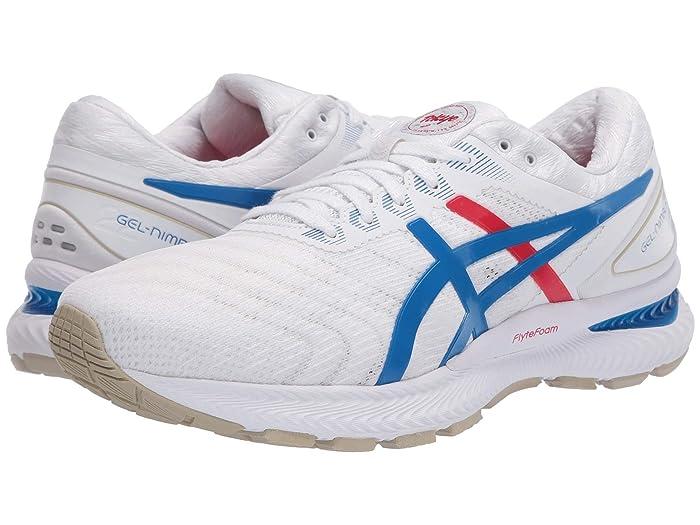 ASICS  GEL-Nimbus 22 (White/Electric Blue) Mens Running Shoes