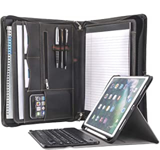 iPad Keyboard Padfolio, Zipper Portfolio Case with Removable Bluetooth Keyboard for 10.5 inch iPad Pro/iPad Air 3