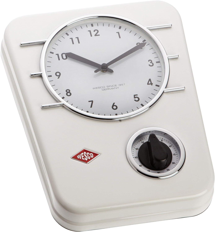 Wesco 322 401-01 Küchenuhr Classic Line Weiss