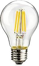 Leadleds 4W LED Edison Bulb 40 Watt Equivalent, A60 LED Bulb 2700K Warm White, E27 Medium Base Antique LED Filament Bulb N...
