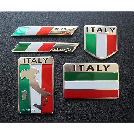 "Italy Flag Stickers x4 3/"" /& 2/"" Italian Car Vinyl Rally Racing Window Decals"