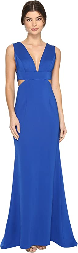 Sleeveless Jersey Gown w/ Cutouts