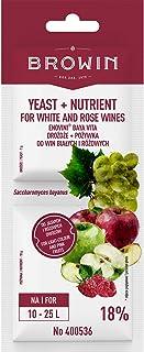 Browin Kit de fabrication de vin blanc et de vin rose avec levure de Bavianus 17 g Multicolore 0,2 x 6,6 x 17,5 cm 15 unités