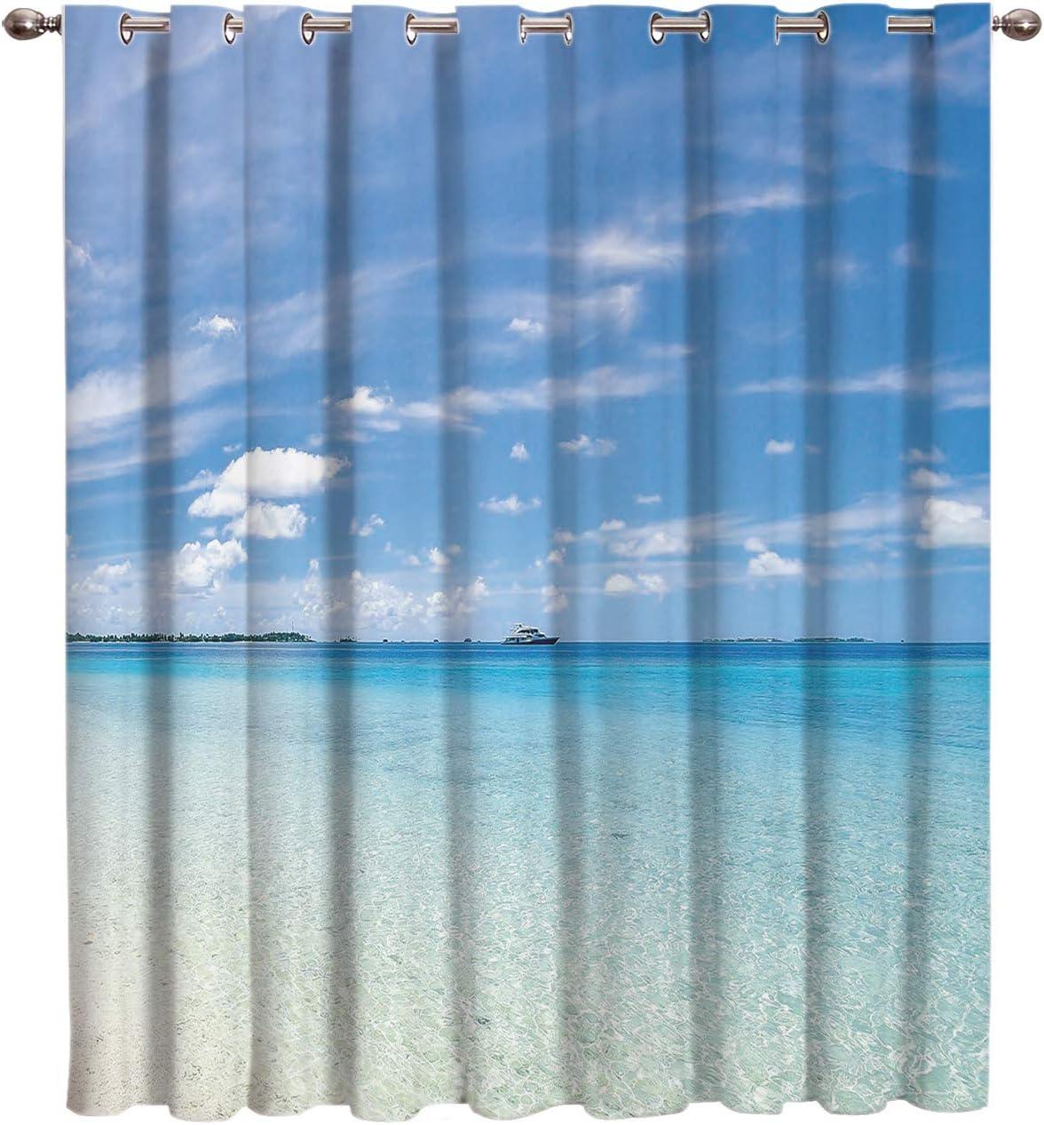 Cloud Dream Home Summer Window-Treatmen 100%品質保証! Darkening Beach Blackout 送料無料 一部地域を除く