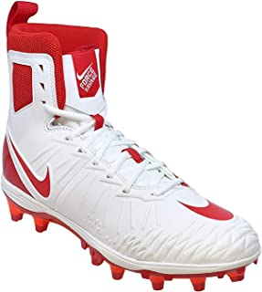 Mens Force Savage Varsity Football Cleats (14, White/University Red)