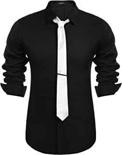 COOFANDY Mens Classic Dress Shirts Long Sleeve Slim Fit Casual Cotton Button Down Shirts for Business Party