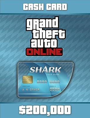 Grand Theft Auto Online | GTA V Tiger Shark Cash Card | 200,000 GTA-Dollars [PC Code]