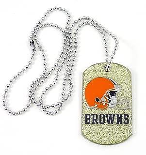 NFL Cleveland Browns Glitter Dog Tag