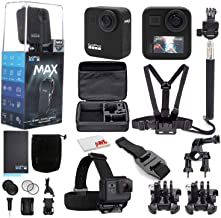 $589 » GoPro MAX 360 Waterproof Action Camera - Camera W/Touch Screen - Spherical 5.6K30 HD Video - 16.6MP 360 Photos - 1080p Live Streaming Stabilization - with Mega Accessory Kit - Get Rolling Bundle
