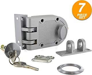 Ram Pro Heavy Duty Deadbolt Deadlock Jimmy Proof Design Prohibits Forced Entry by Spreading of Door Frames Single Cylinder with Key Entry Ideal for Home Office Garage