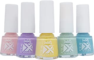 Valmy Color Xtreme Esmalte de Uñas – Colección Rainbow Light Set de 5 Pintauñas de Secado Rápido 112 Sugar Rush 114 Gra...