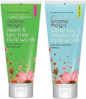 Aroma Magic Neem and White Face Wash Combo, 100 ml (Set of 2)