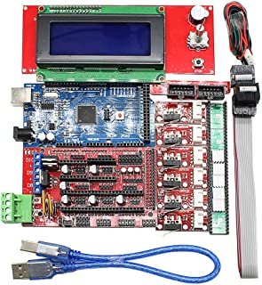 WOWOONE CNC 3D Printer Kit for Arduino Mega 2560 R3 RAMPS 1.4 Controller LCD 2004 + 6X Limit Switch Endstop 5 A4988 Stepper Driver 3D Printerarduino arduino