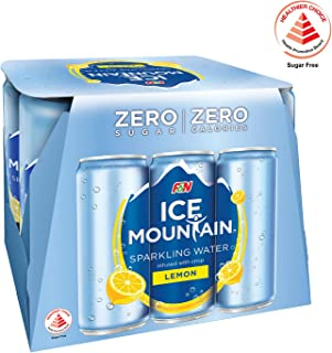 Ice Mountain Sparkling Water Lemon, 325ml, (Pack of 6)