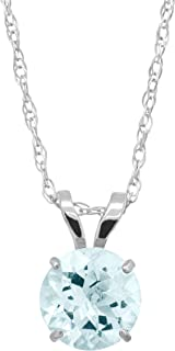 Round-Cut Solitaire Pendant Necklace in 10K Gold