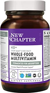 New Chapter Men's Multivitamin, Every Man's One Daily 40+, Fermented with Probiotics + Saw Palmetto + B Vitamins + Vitamin...