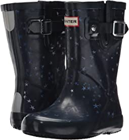 Hunter Kids - Flat Sole Constellation Print Rain Boots (Toddler/Little Kid)