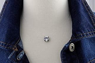 Floating 10mm Diamond Cut Crystal Clear Illusion Necklace, Genuine Diamond Cut Swarovski or Preciosa Crystal, Dainty Durable Illusion Cord, Nickel Free Antique Silver Setting, Three Sizes to Choose!