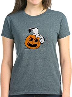 CafePress Snoopy Jack O' Lantern Womens Cotton T-Shirt