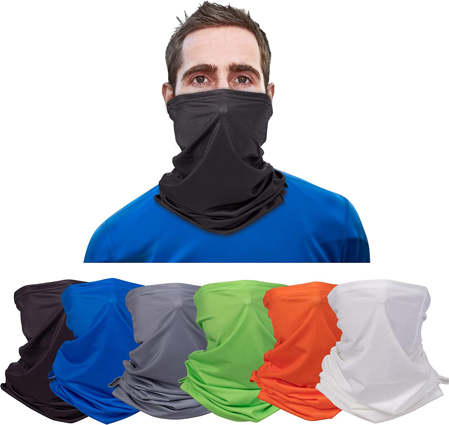 Banne Cooling Neck Gaiter with Ear Loop and Filter Pocket Summer for Men Women Youth