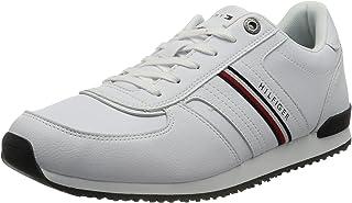 Tommy Hilfiger Herren Iconic Leather Runner Stripes Sneaker