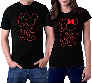 Love MM Black Couple T-Shirts