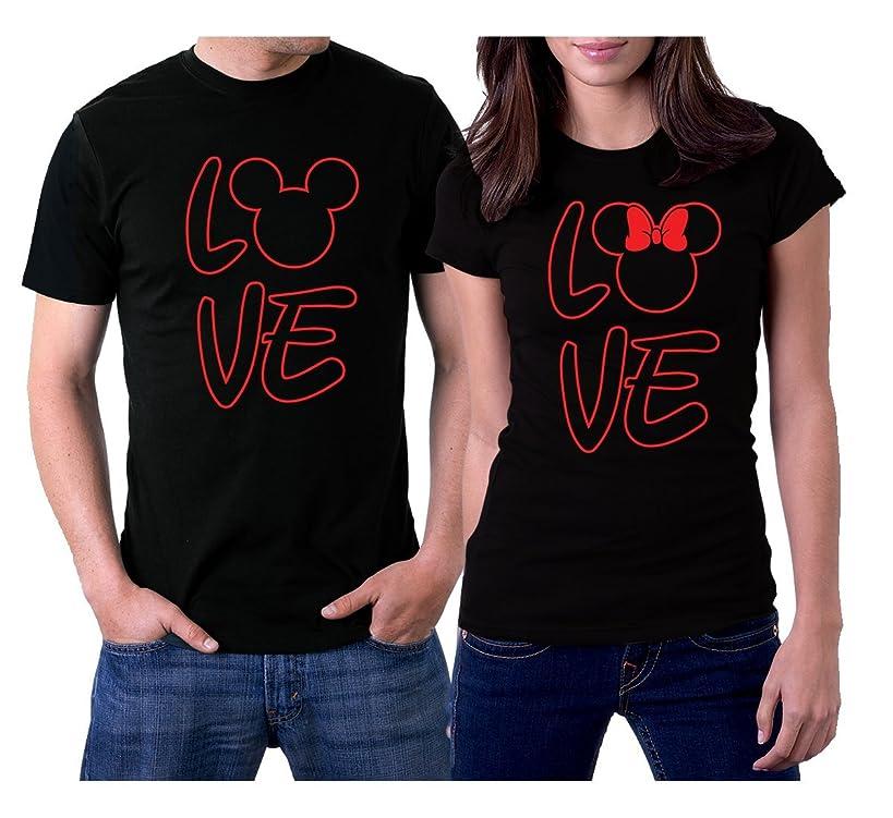 picontshirt Love MM Black Couple T-Shirts