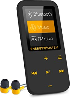 Energy Sistem MP4 Touch Bluetooth –Amber(Bluetooth MP4 player, 16 GB, touch buttons, FM radio and microSD reader)