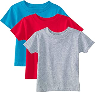 Marky G Apparel Baby 100% Cotton Jersey Short-Sleeve Crew-Neck T-Shirt (Pack of 3)