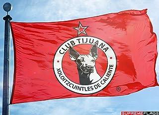 Club Tijuana Xolos Flag Banner 3x5 ft Mexico Futbol Soccer Bandera Roja Red