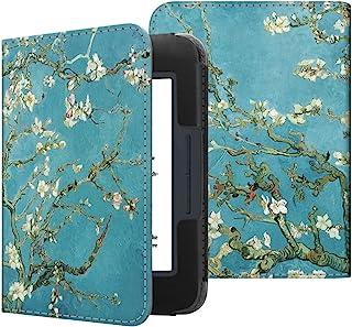 Fintie Nook GlowLight 3 Case, Slim Fit Premium Vegan Leather Folio Cover for Barnes and Noble Nook GlowLight 3 eReader 2017 Release Model# BNRV520, Blossom