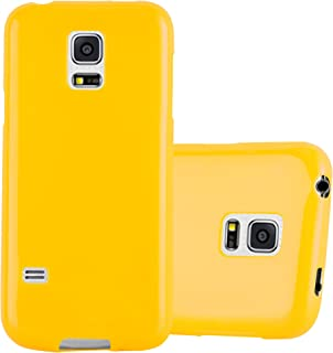 Cadorabo Case Works with Samsung Galaxy S5 / S5 NEO in Jelly Yellow – Shockproof and Scratch Resistant TPU Silicone Cover – Ultra Slim Protective Gel Shell Bumper Back Skin