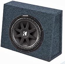 "KICKER 43C104 10"" 300W 4-Ohm Car Audio Subwoofer Sub + Slim Shallow Truck Box"