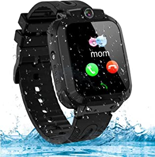 Themoemoe Kids Smartwatch Phone, Kids GPS Watch Waterproof SOS Camera Game Compatible with 2G T-Mobile Birthday Gift for K...