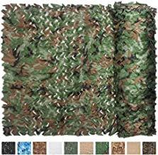 IUNIO Camouflage Netting Camo Net Blinds for Sunshade Camping Shooting Hunting Decoration